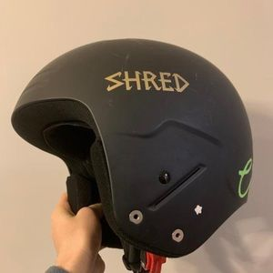 Black unisex medium Shred Helmet FIS legal